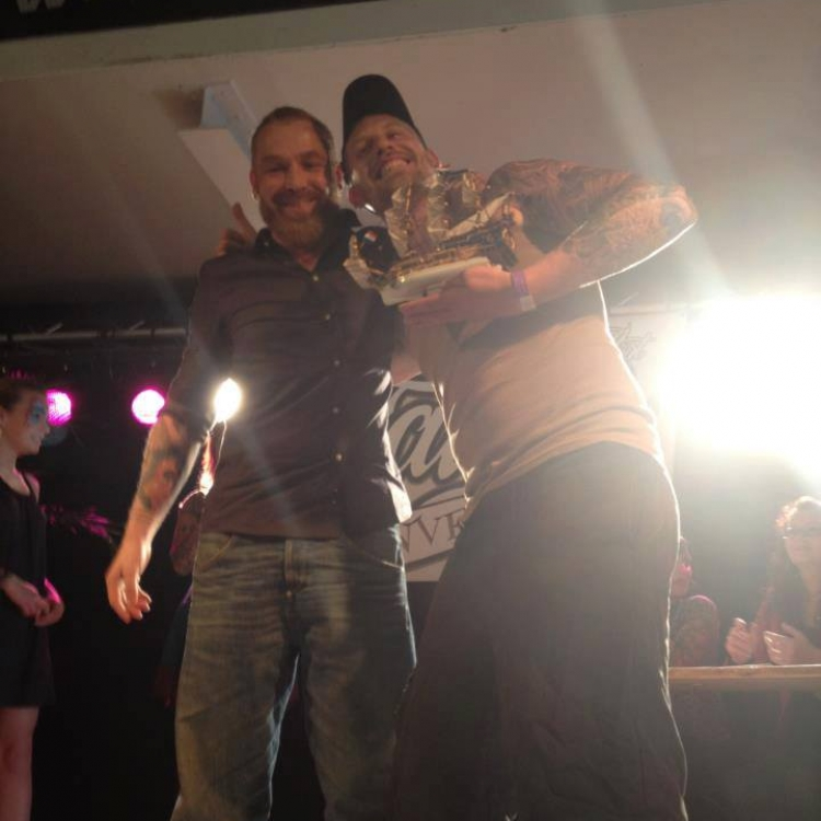 Hankey winning @ the International Breda tattoo convention