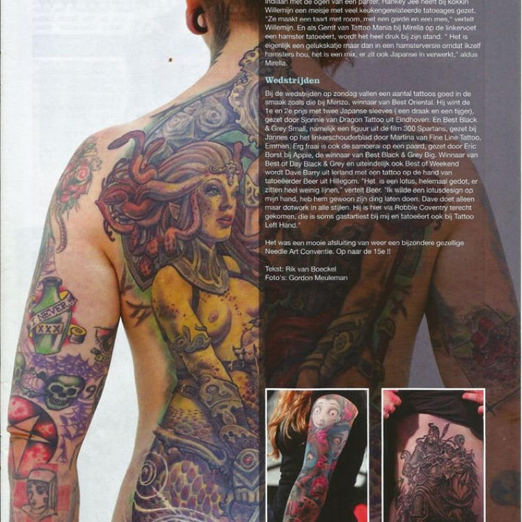 featured in the Tattoo Planet, tattoo magazine 2