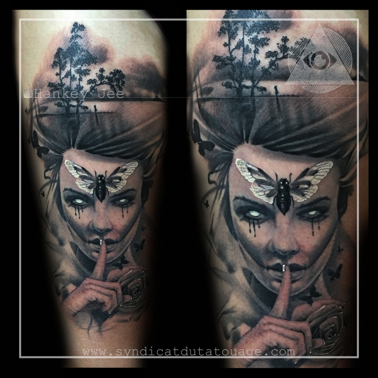 Moth Lady tattoo