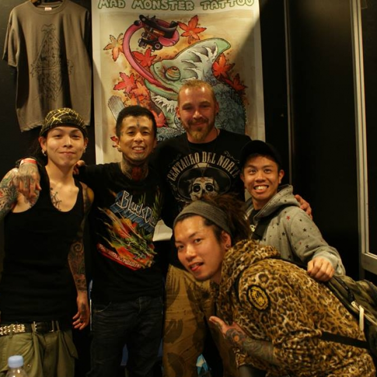 on tour with my Japanese buddies
